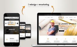 Nuovo sito internet per erregi intonaci (Roma) all'insegna del responsive design fine al marketing aziendale