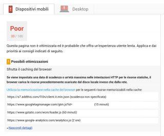 Come sfruttare la cache del browser per migliorare il proprio punteggio in Google PageSpeed Insight